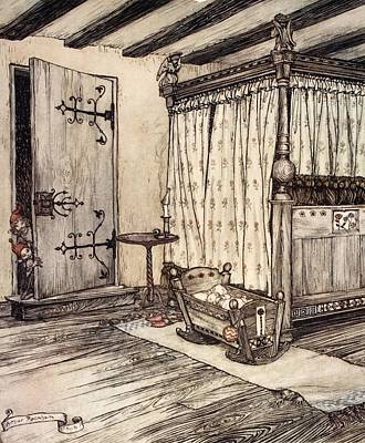 Fairy Doors Drawing - ..almost Fairy Time, Illustration by Arthur Rackham