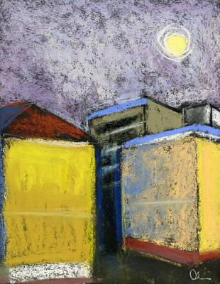 Pastel - Almost Full Moon by Lelia Sorokina