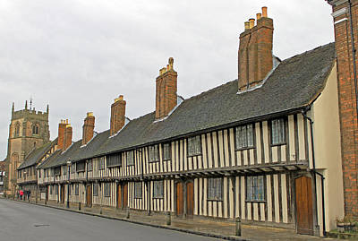 Photograph - Almshouses In Stratford Upon Avon by Tony Murtagh