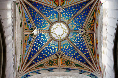 Allegoric Photograph - Almudena Cathedral Dome Ceiling by Artur Bogacki