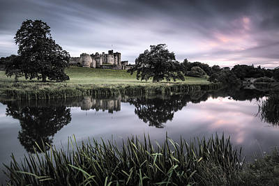Alnwick Castle Sunset Print by Dave Bowman