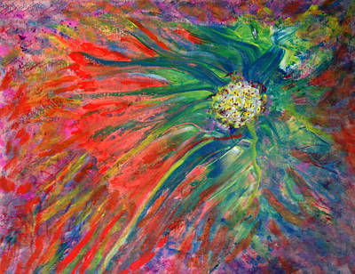 Aloe Vera Painting - Aloe Bloom by Darryl Green