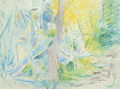 Berthe Pastel - Aloes At Villa Ratti by Berthe Morisot
