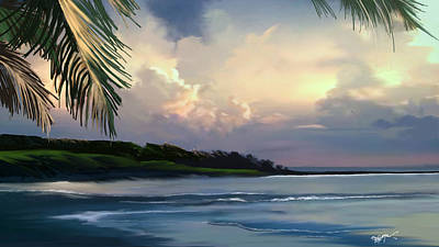 Art Print featuring the digital art Aloha by Anthony Fishburne