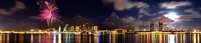 Photograph - Aloha Fireworks by Jason Chu