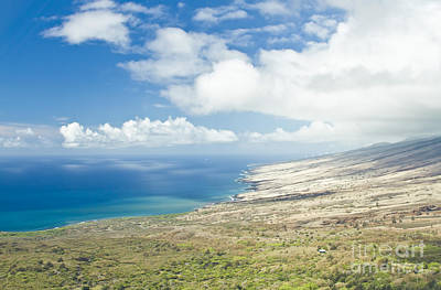 Photograph - Aerial View Kaupo Maui Hawaii by Sharon Mau