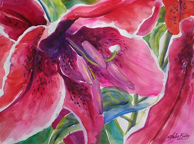 Painting - Aloha Lily By Therese Sold by Therese Fowler-Bailey