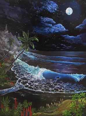 Painting - Aloha Luna by Kevin F Heuman