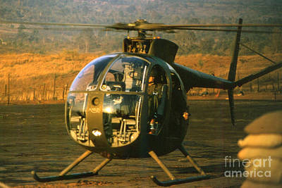 Photograph - Aloha  Oh-6 Cayuse Light Observation   Helicopter Lz Oasis Vietnam 1968 by California Views Archives Mr Pat Hathaway Archives