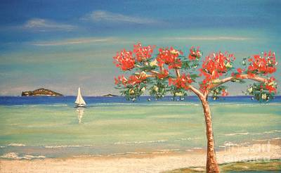 Painting - Aloha by The Beach  Dreamer