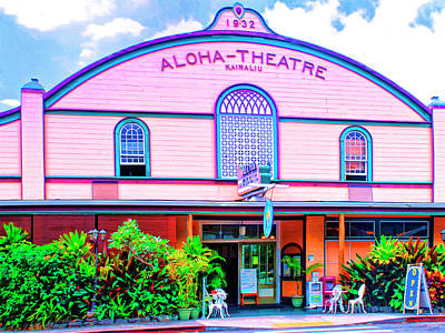 Mauna Kea Mixed Media - Aloha Theatre Kona by Dominic Piperata