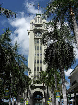 Marsh Photograph - Aloha Tower by Deborah Smolinske