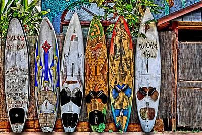 Surfboard Fence Photograph - Aloha Y'all by DJ Florek