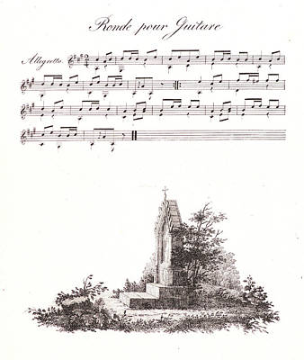 Impression Drawing - Alois Senefelder German, 1771 - 1834. A Pen Drawing by Litz Collection