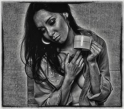 Art Print featuring the photograph Alone Again ... by Chuck Caramella