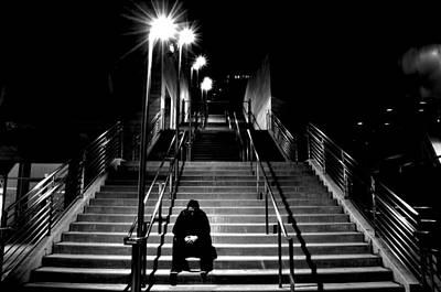 B Photograph - Alone by Art K