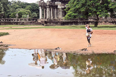 Photograph - Alone At Angkor Wat by John Meader