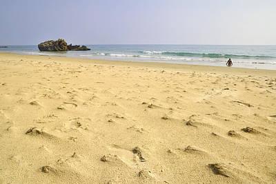 Tarifa Photograph - Alone At Bolonia Beach by Guido Montanes Castillo