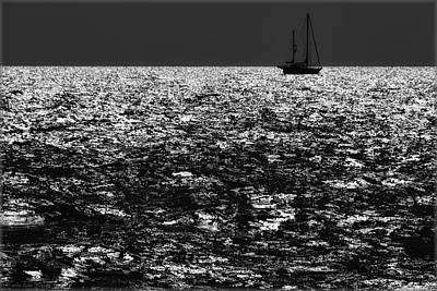 Photograph - Alone At Sea by Erika Fawcett