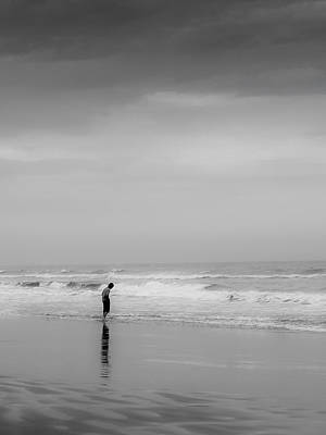 Photograph - Alone By The Sea by Jim DeLillo