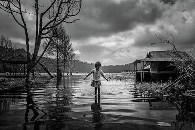 Flood Wall Art - Photograph - Alone by Gunarto Song