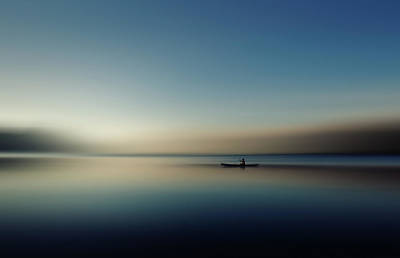 Rowboat Photograph - Alone In Somewhere by Cie Shin