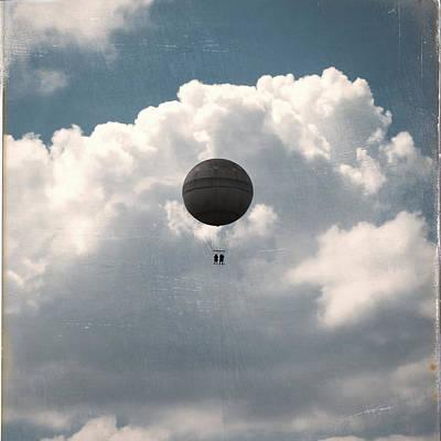 Alone In The Lake Digital Art - Alone In The Clouds by Mustafa Otyakmaz