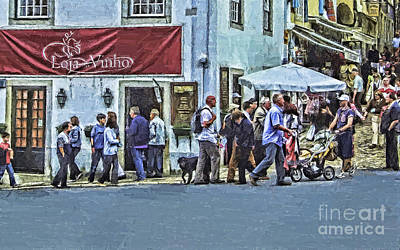 Public Holiday Painting - Alone In The Crowd by GabeZ Art
