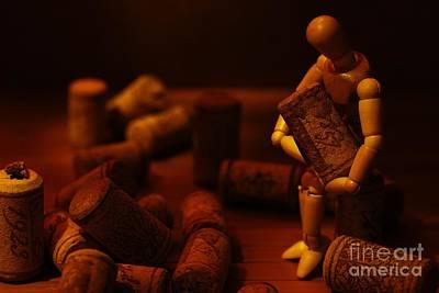 Wine Cellar Photograph - Alone by Jonas Luis
