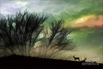 Alone On A Hill Art Print