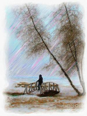 Painting - Alone on the Bridge by Earl Jackson