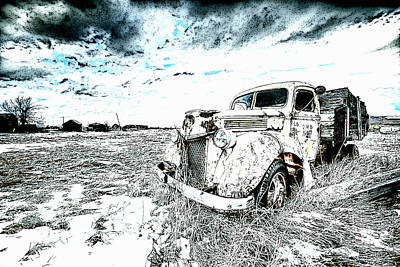 Car Photograph - Alone by VRL Art