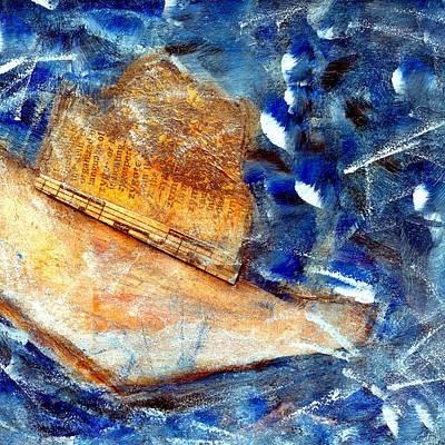 British Abstract Art Painting - Alone by Shuya Cheng