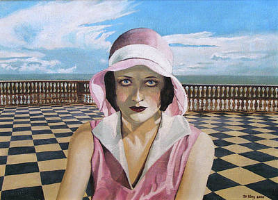 Joan Crawford Painting - Alone With Joan by Jo King