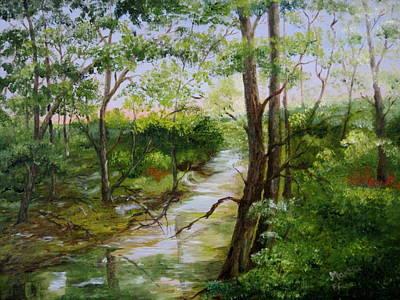 Arkansas Painting - Along Arkansas Highway by Martha Efurd