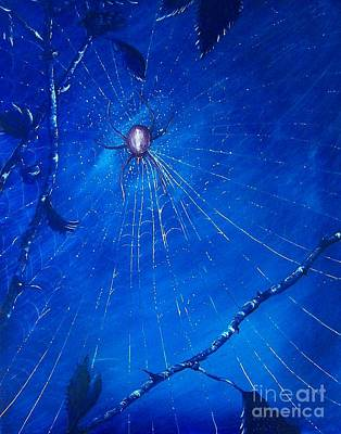 Painting - Along Came A Spider. by Richard Brooks