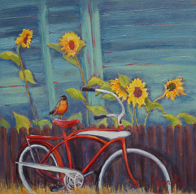 Painting - Along For The Ride by Gina Grundemann