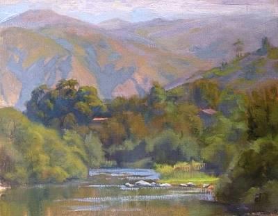 Malibu Lagoon Painting - Along Malibu Creek by Sharon Weaver