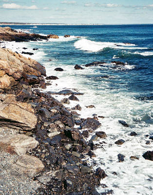 Photograph - Along Marginal Way Ogunquit Me by Ann Tracy