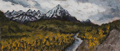 Painting - Along The Alaska Range by Alan Mager