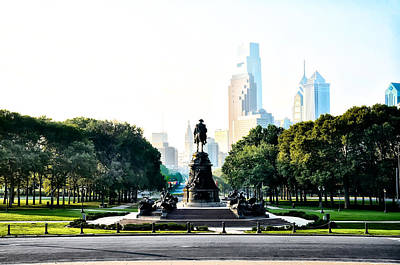 Along The Benjamin Franklin Parkway In Philadelphia Art Print