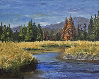 Along The Big Thompson Art Print by Bev Finger
