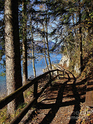 Photograph - Along The Buergl Panoramic Walk Wolfgangsee Austria by Menega Sabidussi