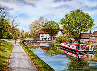 Pathway Mixed Media - Along The Canal by Andrew Read