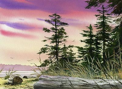 Along The Coast Art Print by James Williamson