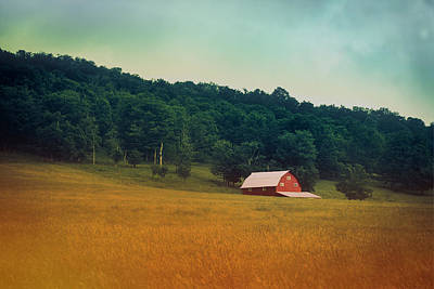 Red Barns Photograph - Along A Country Road by Shane Holsclaw