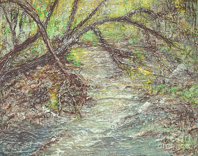 Indiana Painting - Along The Creek by Alys Caviness-Gober