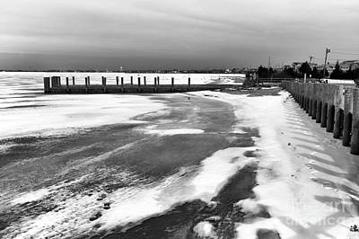 Photograph - Along The Frozen Shore Mono by John Rizzuto