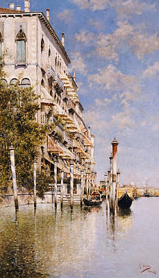 Along The Grand Canal Art Print