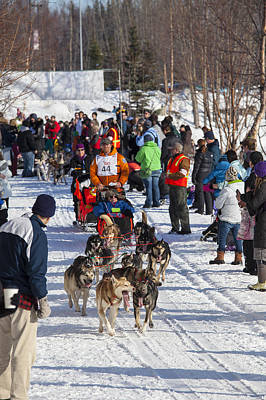 Along The Iditarod Route In Anchorage Art Print by Tim Grams